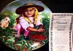 Click to view larger image of Amanda Treasured Days US : Higgins Bond joys childhood Girl Bunny Berries Garden (Image1)