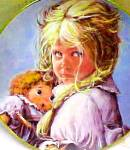 Click to view larger image of Su Etem PACIFIC ART TEDDY & TERRY Series Raggedy Ann Doll Blond Girl Pouting Blonde (Image1)