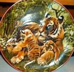 Click here to enlarge image and see more about item TIGER1: WWF SAVE NATURE World Wildlife Fund Asian Tiger 2 Heinrich West Germany Villeroy Boch