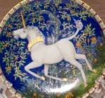 Click here to enlarge image and see more about item UNICORN31: Unicorns In Dreamer's Garden TASTE OF SWEETNESS Susses kosten Gout d'une saveur douce