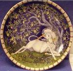 Click here to enlarge image and see more about item UNICORN32: Unicorns In Dreamer's Garden 5 THE TOUCH OF A DREAM La touche d'un reve Traume spuren