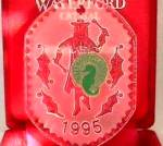 Click here to enlarge image and see more about item WATER16: Waterford Crystal Angel Series #1 1995 Red Velvet Box Flat Dated Annual Series Irish