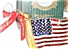Click to view larger image of 2002 WATERFORD HOLIDAY HEIRLOOMS AMERICAN FLAG #123924 MIB POLAND Patriotic (Image2)