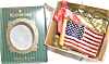 Click to view larger image of 2002 WATERFORD HOLIDAY HEIRLOOMS AMERICAN FLAG #123924 MIB POLAND Patriotic (Image4)