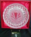 Click to view larger image of '84 CHRISTMAS HOLLY LAMP LANTERN WATERFORD Annual Crystal Plate 1984 (Image2)