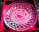 Click here to enlarge image and see more about item WATER43: 6 SIX GEESE A LAYING 12 Twelve DAYS OF CHRISTMAS Waterford Annual Crystal PLATES 1989