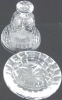 Click to view larger image of NEW WATERFORD NOEL 1977 CHRISTMAS DATED BELL & BASE  Clear Irish Crystal MINT Heavy (Image2)