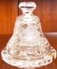Click to view larger image of NEW WATERFORD NOEL 1977 CHRISTMAS DATED BELL & BASE  Clear Irish Crystal MINT Heavy (Image8)