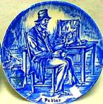 Click here to enlarge image and see more about item WEDGP13: Pedlar Enoch Wedgwood (Tunstall) Ltd. England Peddler Unicorn