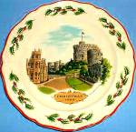 Click here to enlarge image and see more about item WEDGP7: 1980 Queensware Christmas #1 WINDSOR CASTLE by Alan Price