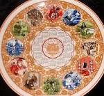 Click here to enlarge image and see more about item WEDGWOOD1: Wedgewood Wedgewood Millennium Calendar Plate 1999 Literature QueensWare Queen's Ware