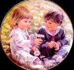 Click here to enlarge image and see more about item WILLIAMS12: Abbie Williams Little Talks with God #2 GOD IS EVERYWHERE Roman Girl Child Kids Plate