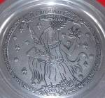 Click here to enlarge image and see more about item WILTON7: 2001 Wilton Armetale Annual Pewter 11 in Dickens Carol Series Ghost Of Christmas Past
