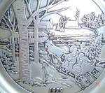 Click here to enlarge image and see more about item WILTON8: 1979 WILTON PEWTER #2 CURRIER & IVES SERIES ANNUAL CHRISTMAS Covered Bridge Victorian