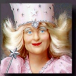 Click here to enlarge image and see more about item WOZ22: WOZ PRESENTS Hamilton GLINDA GOOD WITCH FREE YBR Yellow Brick Road P3861 Wizard Of Oz