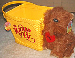 Click to view larger image of Wizard of Oz TOTO doll BASKET RARE WOZ Ringling Bros Barnum Bailey Circus Ice Show 98 (Image1)