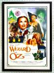 Click here to enlarge image and see more about item WOZA1: WIZARD OF OZ 29X42 POSTER SIGNED:2 MUNCHKINS