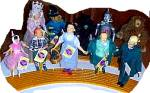 Click to view larger image of 1987 HAMILTON PRESENTS DOROTHY & TOTO WOZ + YELLOW Brick Road Stand Mint withTag YBR (Image3)