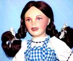 Click here to enlarge image and see more about item WOZFD1: Judy Garland as Dorothy Wizard Of Oz Franklin Mint Porcelain Heirloom Doll 1989
