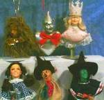 Click to view larger image of PRESENTS Wizard Oz WICKED WITCH Holiday Ornament Vinyl Cloth1989 WOZ 50th Anniversary (Image2)
