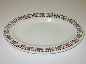 Anchor Hocking Fire King Filigree Oval Plate Platter (Image1)