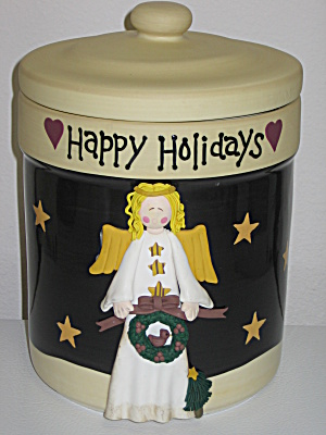 Certified International Midnight Angel Cookie Jar