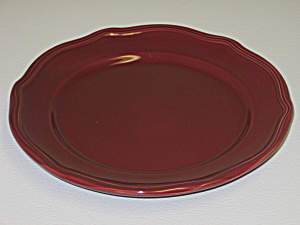 Home Trends Burgundy Reddish Brown Salad Plate (Image1)