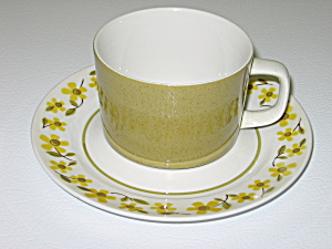 Mikasa Mediterrania Floral Blossoms D2401 Cup & Saucer (Image1)