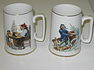 Norman Rockwell 2 1985 Collector's Mugs (Image1)