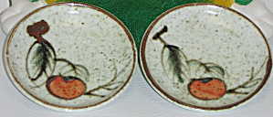Otagiri OMC Japan 2 Mini Plates Red Orange Fruit Leaves (Image1)
