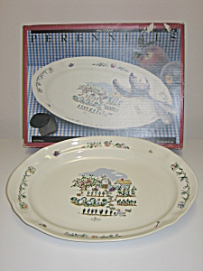 Pfaltzgraff Apple Valley Oval Serving Platter New