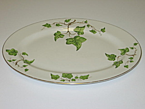 Pencrest Fine China Green Ivy Oval Serving Platter (Image1)