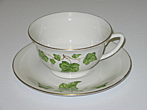 Pencrest Fine China Green Ivy Cup & Saucer Set (Image1)