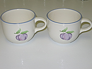 Pfaltzgraff Hopscotch 2 Cups With Plums
