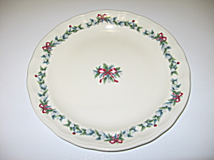 Pfaltzgraff Red Ribbons Christmas Dinner Plate