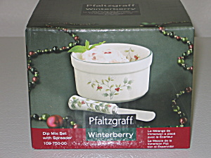 Pfaltzgraff Winterberry Dip Mix Set With Spreader