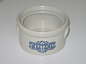Pfaltzgraff Yorktowne Sweetener Holder Crock No Lid
