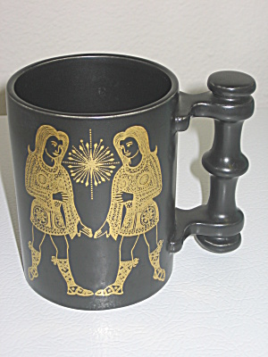 Portmeirion Zodiac Black Mug Gemini Twins John Cuffley