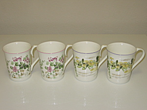 Royal Wessex Fine Bone China Petit Jardin Ivy 4 Mugs (Image1)