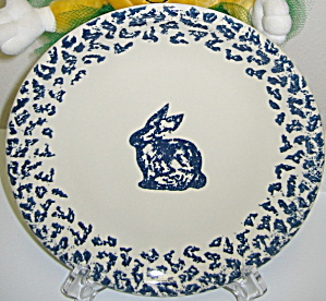 Tienshan Folkcraft Animals Bunny Rabbit Dinner Plate (Image1)