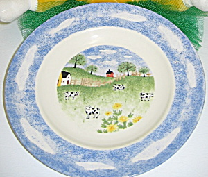 Tienshan Folkcraft Country Side Stoneware Salad Plate