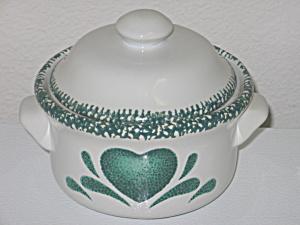 Green Hearts Sponge Individual Casserole Bean Pot (Image1)