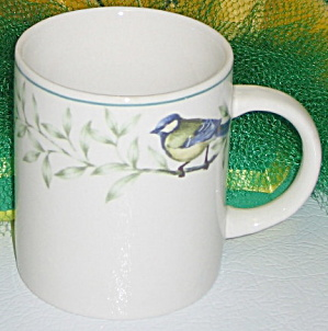 Thomson Pottery China Border Of Birds & Leaves Mug