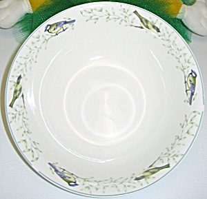 Thomson Pottery China Border Birds Leaves Soup Bowl