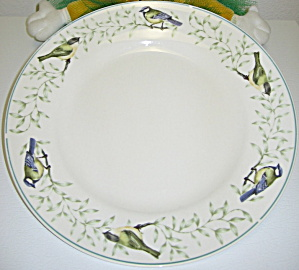 Thomson Pottery Border Of Birds Leaves Dinner Plate