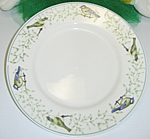 Thomson Pottery Border of Birds Leaves Salad Plate (Image1)