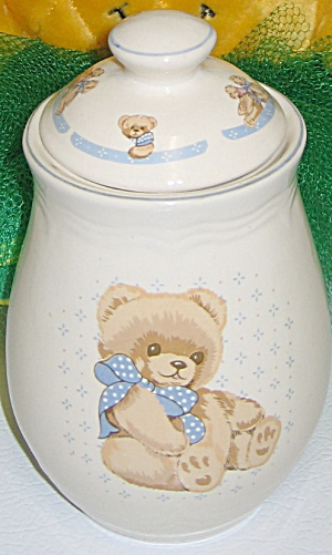 Tienshan Theodore Country Bear Stoneware Tea Canister