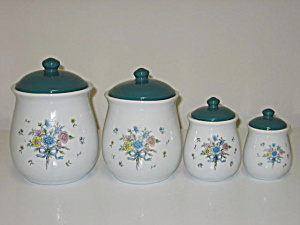 Tabletops Unlimited Victorian Bouquet Canister Set (Image1)