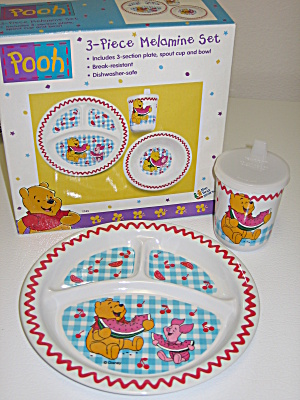 Disney Winnie the Pooh Piglet 1997 Childs Plate & Cup (Image1)
