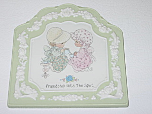 Enesco Precious Moments Friendship Hits The Spot Plaque